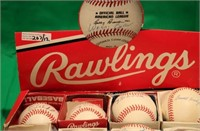 RAWLINGS BASEBALLS DISPLAY BOX WITH 12 SIGNED