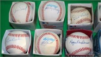 LOT OF 15 RED SOX RAWLINGS SIGNED BASEBALLS TO