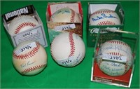 6 SIGNED BASEBALLS TO INCLUDE HALL OF FAME