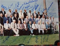 LARGE COLORED PHOTO OF HALL OF FAME BASEBALL