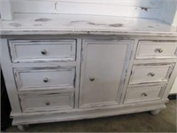 RUSTIC HUTCH (WATER DAMAGE ON PAINT)