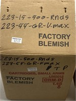 ~1000 Rounds Factory Blemish .223 Caliber Ammo