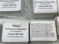 450+ Rounds Wolf 5.56mm Ball Ammunition