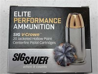 20 Rounds Sig Sauer .45 Auto Ammuition