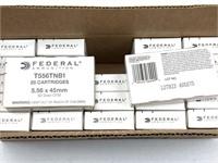 500 Rounds Federal 5.56x45mm Ammunition