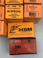 650 rounds. 38 special ammunition