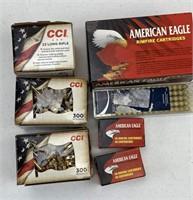 1450 Rounds CCI & American Eagle .22LR Ammunition