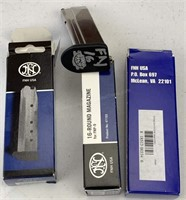 3pc FNH FNP-9 15, 16 Round Magazine