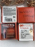 "2200 Hornady .22 Caliber.224"" 55 grain V-Max"