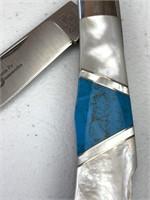 Santa Fe Stoneworks Stone Inlaid Folding Knife