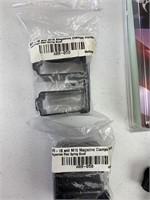 Rubber pistol grips, AR 15, M16 magazine clips