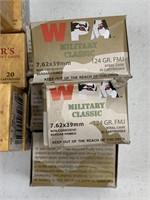 1160 Rounds Assorted 7.62 X 39mm Ammunition
