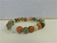 Genuine Multicolor Nephrite Jade Bangle Bracelet
