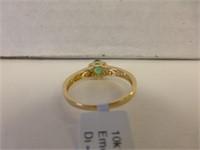 10kt Yellow Gold Gen. Emerald & Diamond (con't)