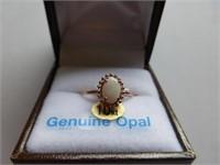 10kt Rose Gold Genuine Opal Ring