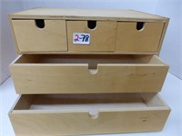 Acrylic Paints and Wooden Drawer Unit for Paint