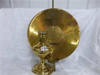 Brass Aladdin Oil Lamp Base, Brass Wall Mount Pan