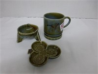 8-Tea Figurines, 3pcs Irish Porcelain