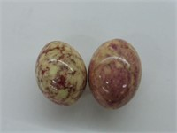 7 Marble Eggs on Floral Plate