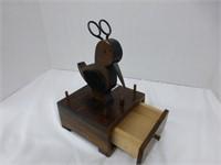 Wooden Bird Top Box w/drawer