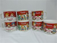 Campbells Soup 3-Thermoses, 11-Soup Mugs, glass