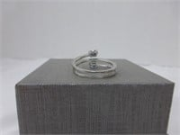 Twisted Sterling Ring w/Diamond Inlay and (con't)