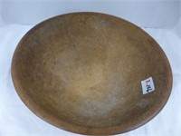"12"" Wooden Bowl and Contents (See Description)"