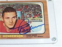 Paul Henderson-Detroit Red Wings(signed) #46