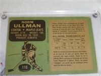 Norm Ullman- Toronto Maple Leafs(signed)#110