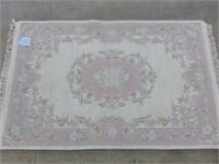 """Indian Wool Rug - Pale Pink/Pastel Floral 47""""x70"""""""