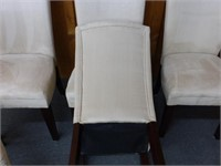6-Biege Faux Suede Dining Chairs - Some Spots