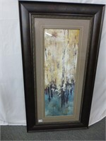"""Abstract """"Trees"""" Picture (Taupe Matting)"""