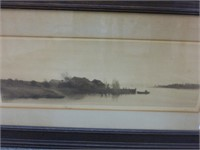 """Picture- Fishing by the Shore 33 3/4"""" x 19 1/2"""""""