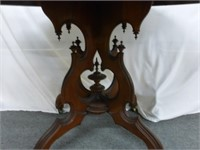 Oval Parlor Table w/Fancy Base (stains on top)