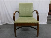 Green Chair and Side Table