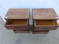 2 Wooden End Tables with Drawer