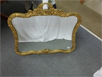 """Gold Guilded Wall Mirror approx. 33 1/2"""" x 29"""""""