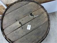 """Wooden Barrel 17 1/2"""" Diameter x 29"""" High"""