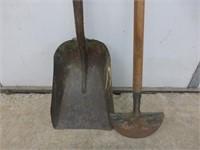 Meteor Edger, Scoop Shovel, Sledge