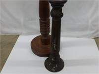 """Wooden Candle Stands 20"""" and 36"""" (2pcs)"""