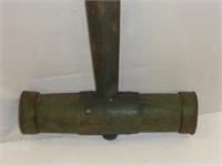 "Antique Wooden Mallet w/32"" Handle"