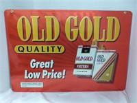 "Old Gold Cigarette Sign 25 1/2"" x 17 1/2"""