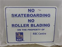 RBC Metal Signs Patrons Only & No Skateboarding