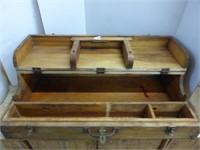 Wooden Flip-Top Carpenters Tool Box