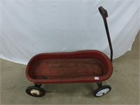 Child's Red Metal Wagon
