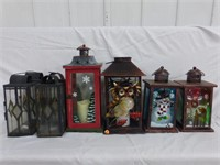 Lantern Style Candle Holders in Wood Crate