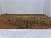 Eagle Brand Fillets-Mulgrave N.B. wooden box