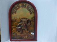 2-Wooden Bears Plaques (con't)
