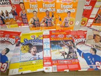 Cereal Boxes w/Basketball and Hockey Players