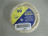 Twisted Sisal 50ft 1/4''